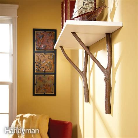 Attach Shelf To Wall by How To Make A Cottage Shelf With Branches The Family
