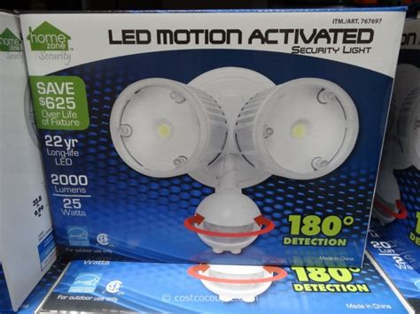 motion sensor light costco led motion activated security light