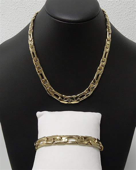 gold necklace and matching bracelet catawiki