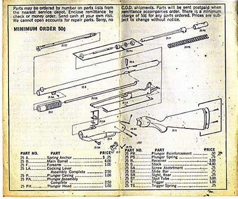 bb gun parts diagram 6 best images of 1894 parts diagram model