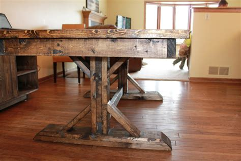 farmhouse dining room table construction 2 style