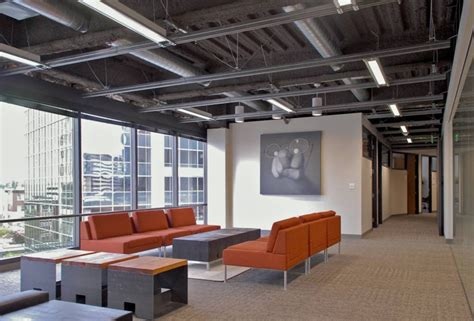 modern industrial office open ceiling lighting design ideas for commercial