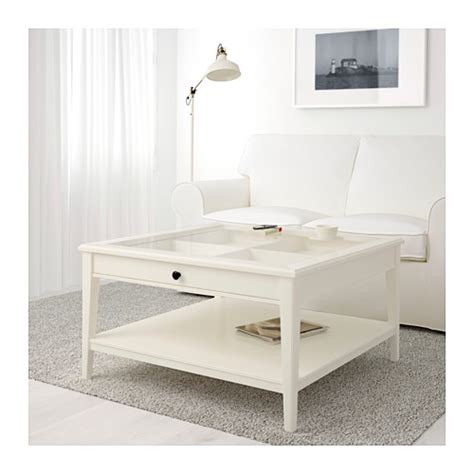 liatorp coffee table white glass 93x93 cm ikea