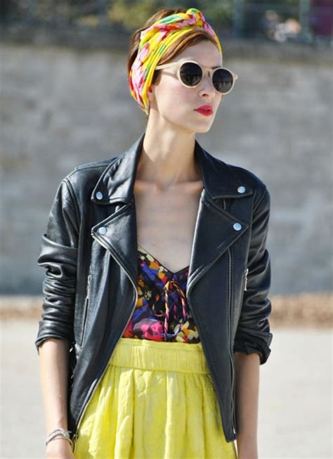 street style hair scarves head wraps fashion trend celebrities street style the