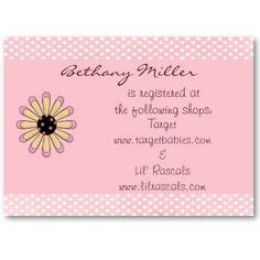 Babyshower Registry Card Template The Bump by Wording For Baby Gift Registry Baby Shower Registry