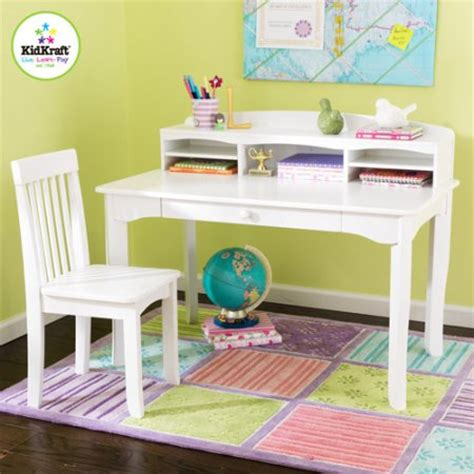 Kids Wood Desk And Chair Set Childrens Workstation Table White Desk And Chair Set
