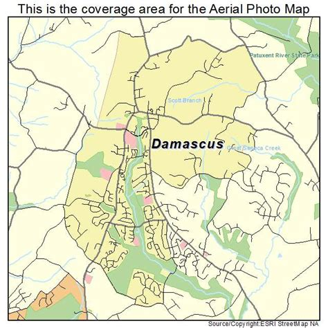 damascus on a map aerial photography map of damascus md maryland