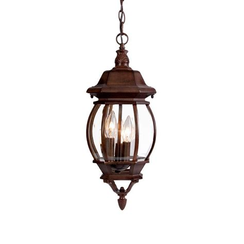 hanging lantern light fixture acclaim lighting chateau collection 3 light burled walnut