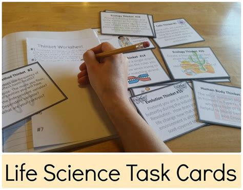 Biography And Autobiography Task Cards | blog post about using task cards to get your students to