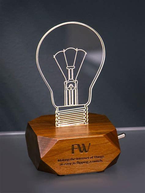 walnut and acrylic edge lit led light funbox