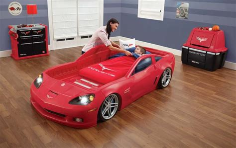 corvette toddler bed set new step2 corvette convertible toddler to bed w