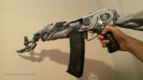 Papercraft Ak 47 - wip crossfire ak47 iron beast papercraft 2 by svanced on