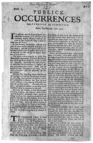 colonial newspaper template colonial newspaper in ma in 1690 plymouth
