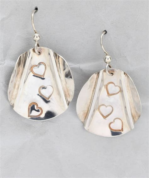 Handcrafted Sterling Silver Earrings - handmade sterling silver earrings finely