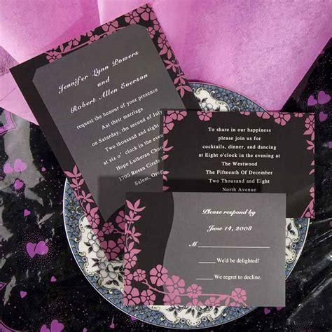 unique wedding invitations pink and black ewi048 as low as 0 94 - Wedding Invitations Black And Pink