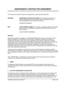 Real Estate Independent Contractor Agreement Template by Independent Contractor Agreement Template Sle Form