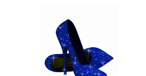 royal blue high heel shoes acrylic cut outs zazzle