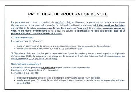 Modèle De Lettre Procuration Administrative Procuration De Vote Jean De Valeriscle
