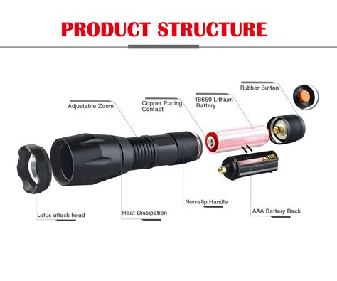 atomic beam vs tac light new tough grade tactical flashlight as seen on tv us