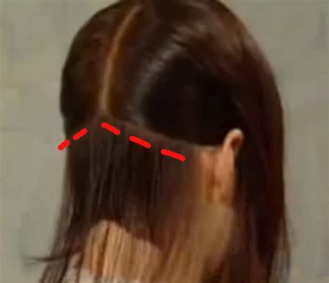 steps on how to cut a bob cut the back of a bob haircut haircuts bobs and cosmetology