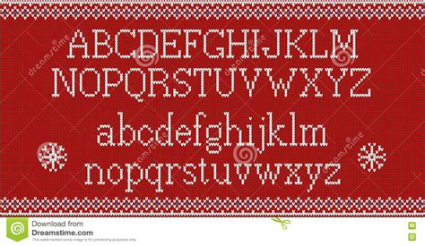 knitting pattern font christmas font knitted latin alphabet on seamless knitted