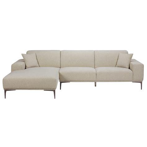 divani ad angolo in tessuto divano ad angolo sinistro 5 posti grigio chiaro screziato