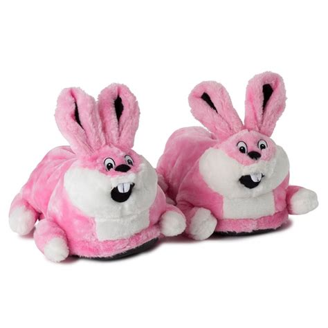bunny slippers novelty pink bunny slippers size 39 40 41 funslippers