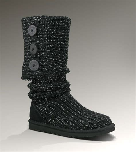 New Cardy Jacklyn more ugg more ugg classic cardy metallic boots shown in black silver also available in