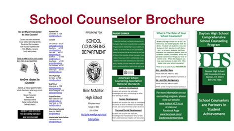For High School Counselors School Counselor Tips For Gearing Up For The New School Year Counseling Brochure Templates