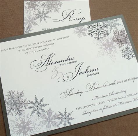Winter Wedding Invitations by Lacy Snowflake Winter Wedding Invitation December January