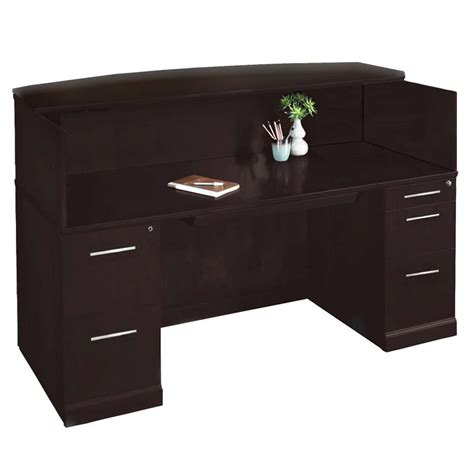 Mayline Sorrento Reception Desk In Espresso Srcdesp