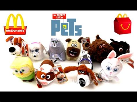 Happy Meal Mcdonald The Secret Of Pets 2016 the secret of pets mcdonald s uk happy meal toys complete set 10 collection