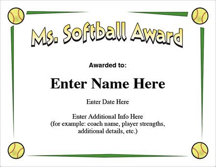 softball certificate templates free softball certificate templates 28 images sports