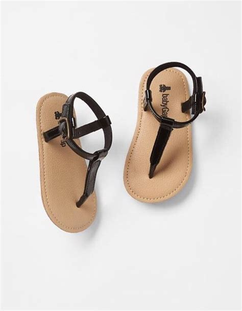 infant sandals size 0 gap baby size 0 3 months nwt black patent t