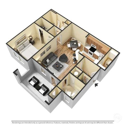 1 bed 1 bath floor plans the crossings at cottage hill in mobile al