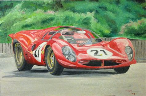 Ferrari 330 P4 Race Car Oil Painting By Ant787 On Deviantart