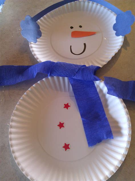 Snowman Paper Crafts For - snowman paper plate craft she z crafty