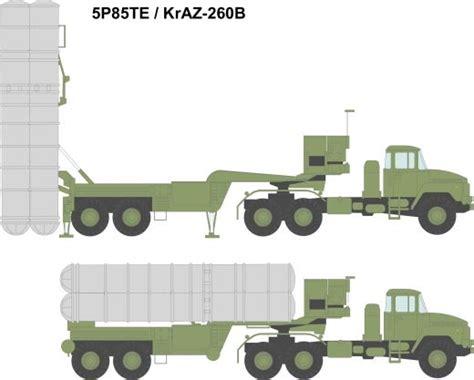 Russia Army S 300 Missile Launching Vehicle Sa 10 Grumble Radar 5p85te 5p85te2 s 300pmu2 launcher unit semi trailer sa 20b