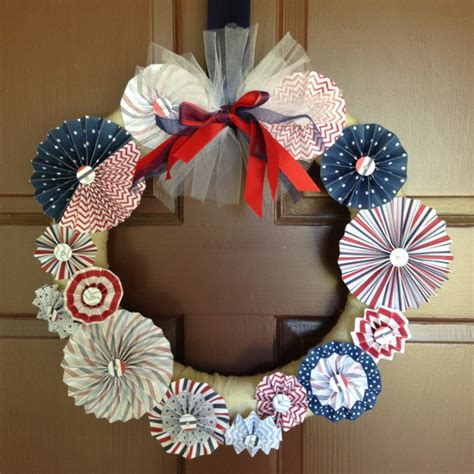 4th Of July Paper Crafts - paper crafts 4th of july wreath wreath s i will make