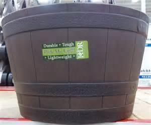 whiskey barrel resin planter hdr 474543 ebay