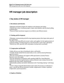 resume job descriptions for assistant manager 6 - Assistant Manager Job Description Resume