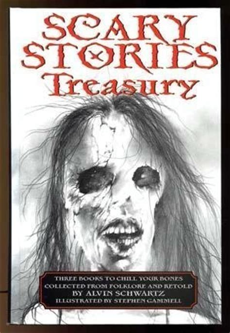 the book splash horror story books scary stories treasury by alvin schwartz