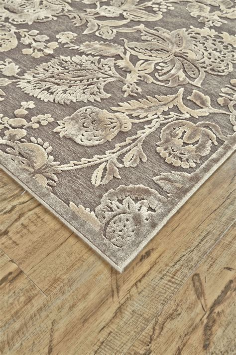 saphir rug feizy saphir zam pewter gray 7 6 quot x 10 6 quot rug 499 you save 346 00
