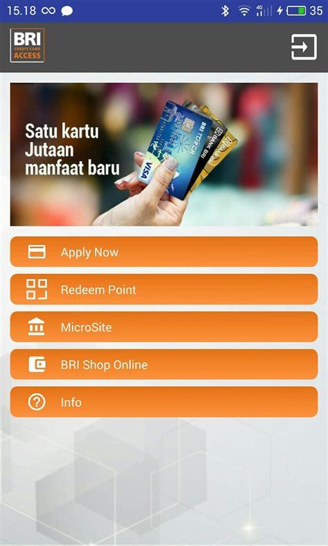 apply  kartu kredit bri bisa melalui aplikasi bri