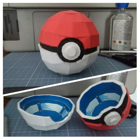 Pokeball Papercraft - papercraft pokeball box by denissensei on deviantart