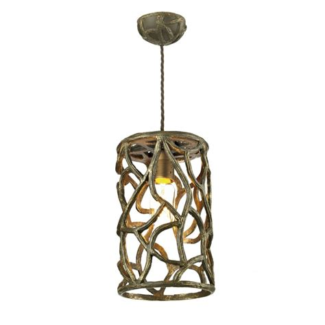 Small Cocoa Gold Ceiling Pendant Light In Unusual Twig Design Small Pendant Ceiling Lights