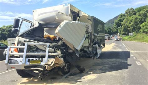 trucks crash truck crash causing mount ousley traffic delays