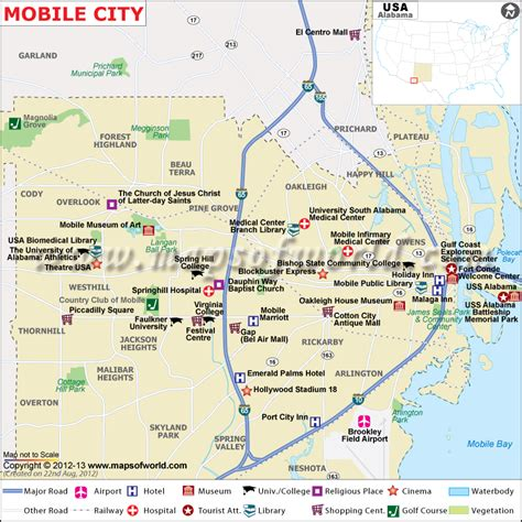 alabama map in usa mobile city map map of mobile city alabama