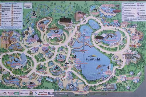 seaworld orlando map seaworld orlando florida theme parks