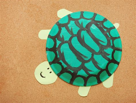 How To Make Paper Tortoise - how to make a paper plate turtle 10 steps with pictures